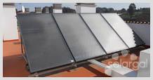 Instalación solar térmica en edificio de viviendas (Galicia - A Coruña - Teixeiro)