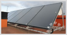 Instalación solar en edificio de viviendas ( Galicia- A Coruña- A Coruña)